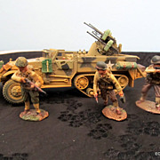 Corgi 1/50th World War II M3 Half Track With Quad 50 Cal & 3 GI's