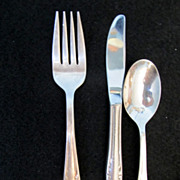 Air Canada Silverplate Three Piece Place Setting