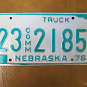 1976 Nebraska Truck License Plate Like New Decor/Birthday