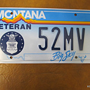 Montana Big Sky License Plate Decorator/Collector