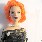 "REDUCED Integrity 12"" Fashion Doll Dressed In Mikelman Black Evening Dress"