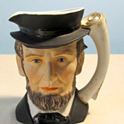 Abe Lincoln Lefton High Detail Cream Pitcher
