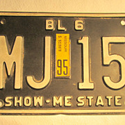 "Missouri ""Show Me State"" License Plate"