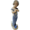 Retired Lladro Mechanic 4897 - Boy with Hammer, Truck, Die