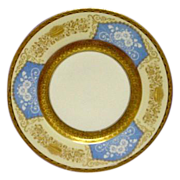 Raised Gold Decoration on Hutschenreuther China Cabinet Plate