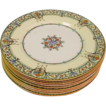 10 Royal Worcester Chantilly Serving Plates with Raised Enamel