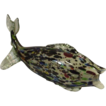 Large Vintage Murano Italy Speckled Fish