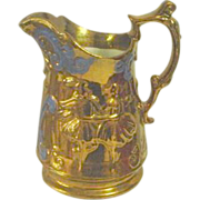 Allerton's England Copper Luster Pitcher with Ballerinas Dancers