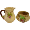 Vintage Wade Bramble Creamer and Sugar Set
