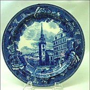 Antique Wedgwood Old South Church Historical Plate