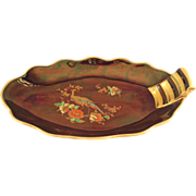 REDUCED Carltonware Rouge Royale and Gold Peacock Dish