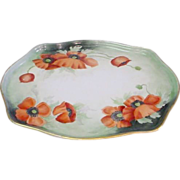 Handpainted Limoges Poppy Tray