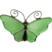 David Andersen Norway Guilloche Sterling with Enamel Butterfly Pin in Lime Green