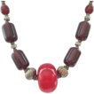 Great Looking Cherry Amber/Bakelite Look Boho Ethnic Necklace