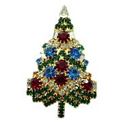 SALE Eisenberg Ice Swarovski Crystal Christmas Tree Pin