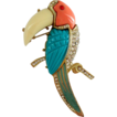 Very Large Toucan Pin - Unsigned Hattie Carnegie or Kenneth Jay Lane - FREE Shipping!