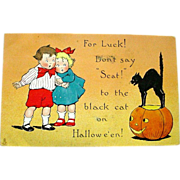 Raphael Tuck 1912 Halloween Postcard