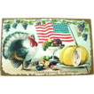 1910 Thanksgiving Postcard with Reverse Flag