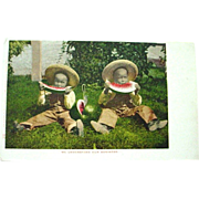 Photo Postcard of Black Boys Eating Watermelon Mitchell Publisher