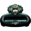 Antique Papier Mache Inkstand with Crystal Inkwell