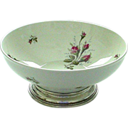 Rosenthal Moss Rose Sterling Footed Large Centerpiece Bowl