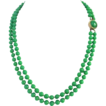 Vintage Double Strand Jade-like Peking Glass Beads