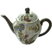 SALE Antique Royal Worcester 1888 Small Flawless Handpainted Teapot