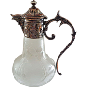 SALE French Christofle Gallia Silver Antique Figural Claret Jug