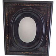 Rare and Remarkable Antique Victorian Hardstone Carved Picture Frame