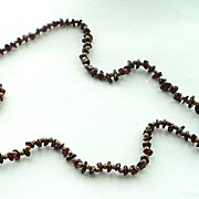 Vintage Amethyst or Garnet Chip Necklace