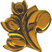 Matisse Copper Tulip Pin
