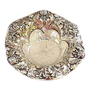 Gorgeous Antique Gorham Sterling Silver Art Nouveau Bonbon Bowl - Damaged