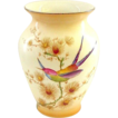 Crown Ducal Bird of Paradise Handpainted Vase with Butterfly