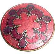 Enamel on Copper Pin with Scandinavian Type Design