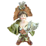 Gorgeous Miniature Porcelain Rudolstadt Bust Like Teplitz