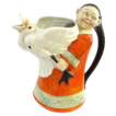 Schafer & Vater Figural Chinese Man or Woman with Goose Pitcher Creamer