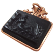 14K Rose Gold and Carved Hardstone Cameo Fob of Nude Bathing - FREE Shipping