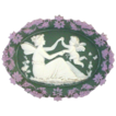 Tricolor Jasperware Plaque with Angel and Cupid