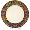 12 Splendiferous 1930s Raised Gold on Cobalt Blue Plates - Gold 'Jewelling' - Early Lenox