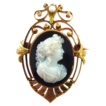 Antique 18K Yellow and Rose Gold Hardstone Cameo