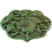 Large Jade Ruyi Kylin Carved Pendant Plaque