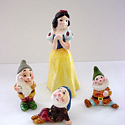 Group of Disney Character Figurines - Snow White with Bonus Pieces