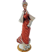 REDUCED Lovely Older Capodimonte Figurine of Woman