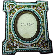 Antique Micromosaic/Micro Mosaic Miniature Frame