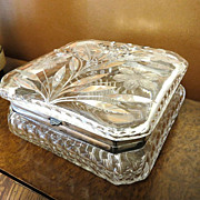 Magnificent Large Circa 1900 Pairpoint Cut Glass Dresser Box