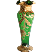 Massive Antique Moser Enameled Vase