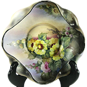Vintage Matte Finish Nippon Floral Decorated Bowl