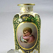 Exceptional  Circa  1880  Moser  Cameo  Cut  Child�s Portrait  Dresser  Bottle