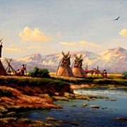 Original Native American Oil Painting by Heinie Hartwig