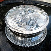 Circa 1900 Pairpoint American Brilliant Cut Glass Dresser Box